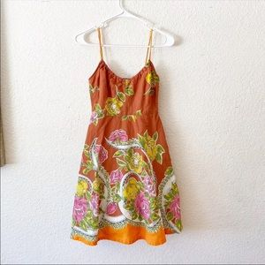 Anthropologie Odille Fit Flare Sun Dress Floral